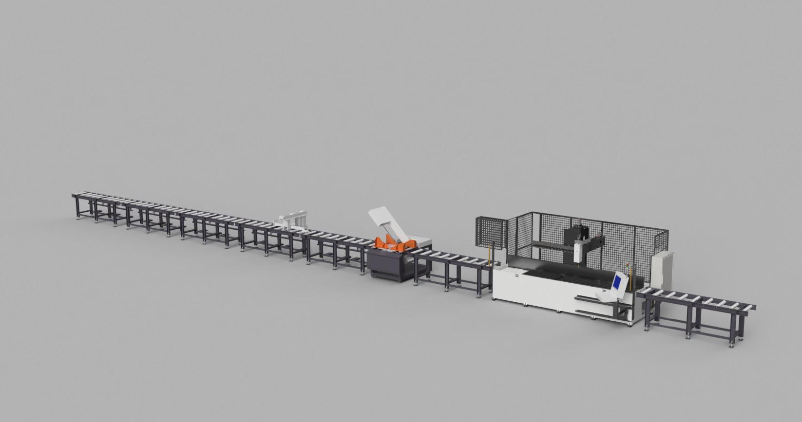 Anschlag Saege Rollbahn Bohrmax